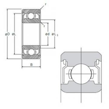 6 mm x 13 mm x 5 mm  6 mm x 13 mm x 5 mm  NMB L-1360ZZ deep groove ball bearings