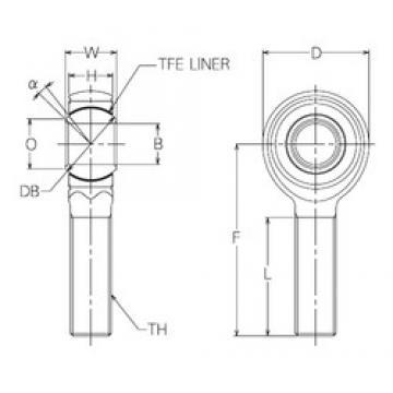 12 mm x 34 mm x 12 mm  12 mm x 34 mm x 12 mm  NMB HRT12E plain bearings