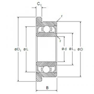 8 mm x 16 mm x 5 mm  8 mm x 16 mm x 5 mm  NMB LF-1680HH deep groove ball bearings