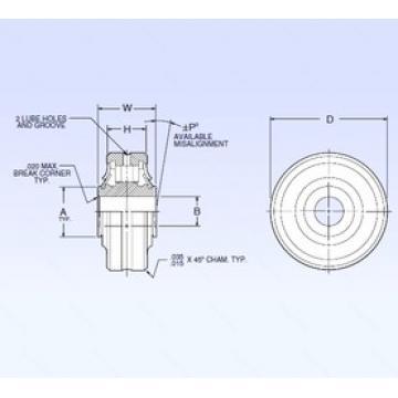 9,525 mm x 16,764 mm x 38,1 mm  9,525 mm x 16,764 mm x 38,1 mm  NMB ASR6-3A spherical roller bearings
