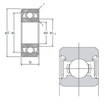 8 mm x 19 mm x 6 mm  8 mm x 19 mm x 6 mm  NMB R-1980DD deep groove ball bearings