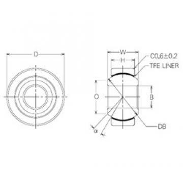 20 mm x 46 mm x 20 mm  20 mm x 46 mm x 20 mm  NMB SBT20 plain bearings