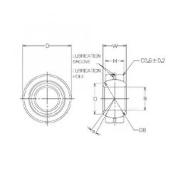 22 mm x 40 mm x 22 mm  22 mm x 40 mm x 22 mm  NMB MBG22CR plain bearings