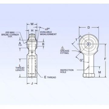 6,35 mm x 20,32 mm x 6,35 mm  6,35 mm x 20,32 mm x 6,35 mm  NMB ARR4FFN-1D spherical roller bearings