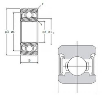 10 mm x 22 mm x 6 mm  10 mm x 22 mm x 6 mm  NMB R-2210X3SS deep groove ball bearings
