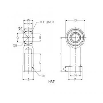 4 mm x 18 mm x 4 mm  4 mm x 18 mm x 4 mm  NMB HRT4 plain bearings