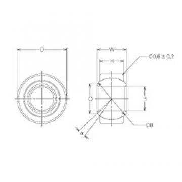 12 mm x 26 mm x 12 mm  12 mm x 26 mm x 12 mm  NMB MBW12CR plain bearings