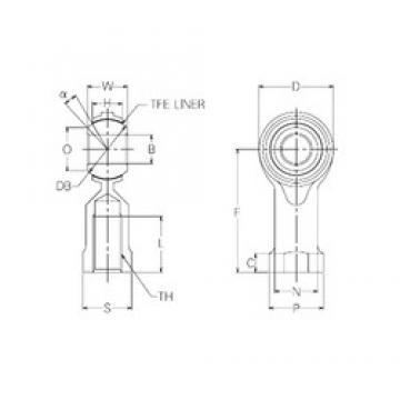 25 mm x 56 mm x 25 mm  25 mm x 56 mm x 25 mm  NMB RBT25 plain bearings