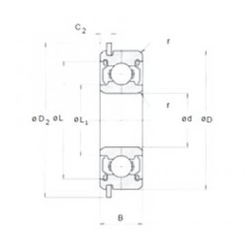 8 mm x 16 mm x 5 mm  8 mm x 16 mm x 5 mm  NMB LNR-1680KK deep groove ball bearings