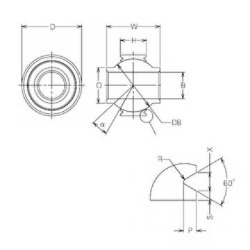 14 mm x 29 mm x 14 mm  14 mm x 29 mm x 14 mm  NMB MBY14VCR plain bearings