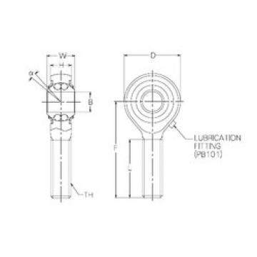 5 mm x 18 mm x 5 mm  5 mm x 18 mm x 5 mm  NMB PBR5EFN self aligning ball bearings