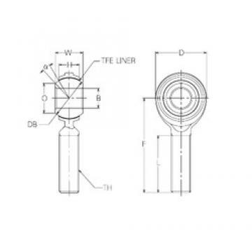 18 mm x 42 mm x 18 mm  18 mm x 42 mm x 18 mm  NMB RBT18E plain bearings