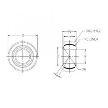 25 mm x 45 mm x 25 mm  25 mm x 45 mm x 25 mm  NMB MBT25 plain bearings