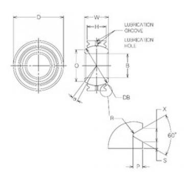 20 mm x 36 mm x 20 mm  20 mm x 36 mm x 20 mm  NMB MBG20VCR plain bearings