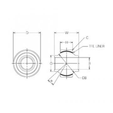 15 mm x 33 mm x 15 mm  15 mm x 33 mm x 15 mm  NMB MBYT15 plain bearings