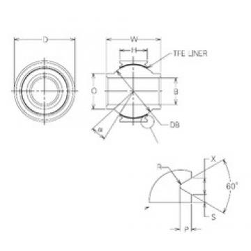 20 mm x 40 mm x 20 mm  20 mm x 40 mm x 20 mm  NMB MBYT20V plain bearings