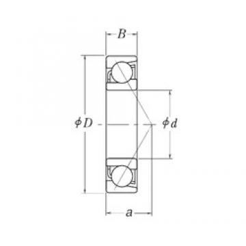 127 mm x 254 mm x 50,8 mm  127 mm x 254 mm x 50,8 mm  RHP MJT5 angular contact ball bearings