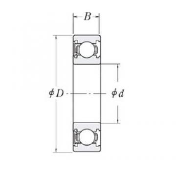 41,275 mm x 88,9 mm x 19,05 mm  41,275 mm x 88,9 mm x 19,05 mm  RHP LJ1.5/8-RS deep groove ball bearings