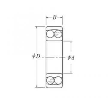 44,45 mm x 107,95 mm x 26,9875 mm  44,45 mm x 107,95 mm x 26,9875 mm  RHP NMJ1.3/4 self aligning ball bearings