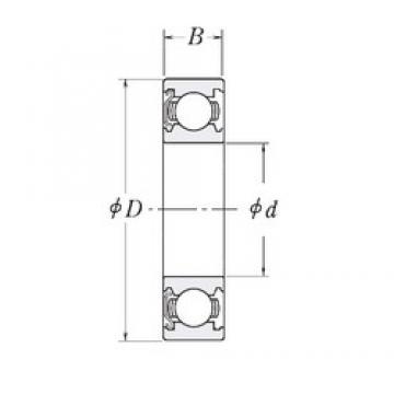 12,7 mm x 23,8125 mm x 9,525 mm  12,7 mm x 23,8125 mm x 9,525 mm  RHP LJ1/2-Z deep groove ball bearings