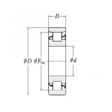 12,7 mm x 41,275 mm x 15,875 mm  12,7 mm x 41,275 mm x 15,875 mm  RHP MRJ1/2 cylindrical roller bearings