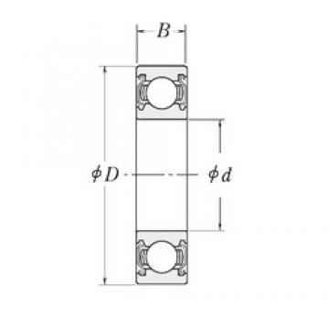 44,45 mm x 95,25 mm x 20,6375 mm  44,45 mm x 95,25 mm x 20,6375 mm  RHP LJ1.3/4-2Z deep groove ball bearings