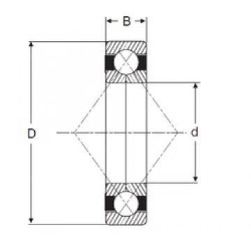 170 mm x 360 mm x 72 mm  170 mm x 360 mm x 72 mm  SIGMA QJ 334 N2 angular contact ball bearings