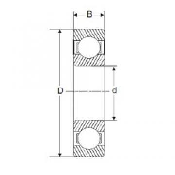 30 mm x 55 mm x 19 mm  30 mm x 55 mm x 19 mm  SIGMA 63006-2RS deep groove ball bearings