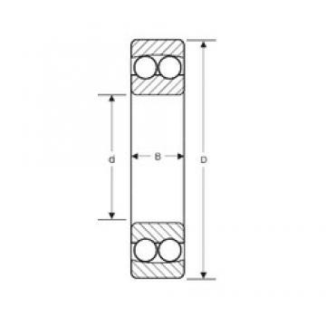 95 mm x 170 mm x 32 mm  95 mm x 170 mm x 32 mm  SIGMA 1219 self aligning ball bearings