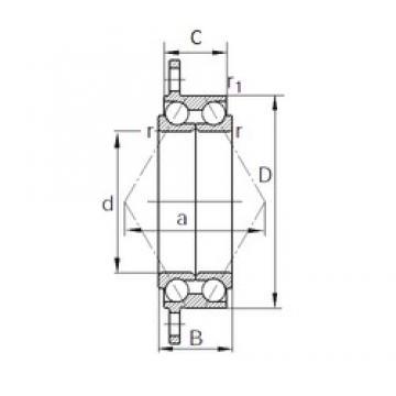 52 mm x 78 mm x 27.2 mm  52 mm x 78 mm x 27.2 mm  KBC SDA0106 angular contact ball bearings