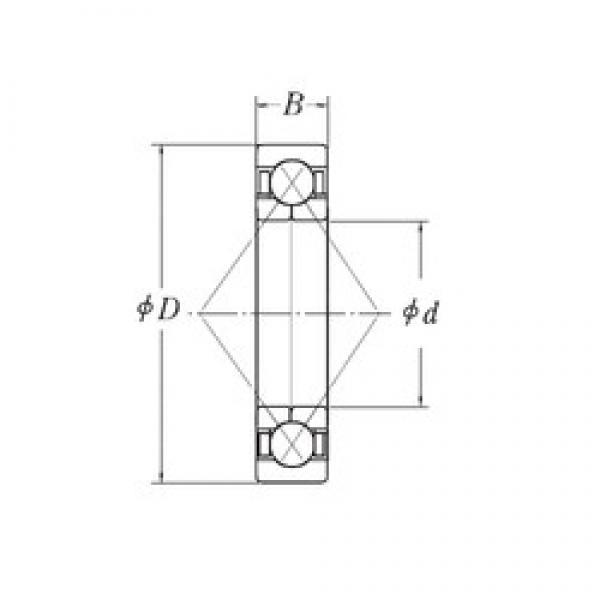 28,575 mm x 71,4375 mm x 20,6375 mm  28,575 mm x 71,4375 mm x 20,6375 mm  RHP QJM1.1/8 angular contact ball bearings #2 image