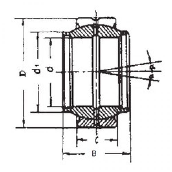 220 mm x 320 mm x 135 mm  220 mm x 320 mm x 135 mm  FBJ GE220XS plain bearings #3 image