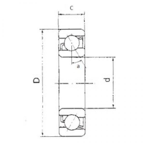 70 mm x 125 mm x 24 mm  70 mm x 125 mm x 24 mm  FBJ 7214B angular contact ball bearings #3 image