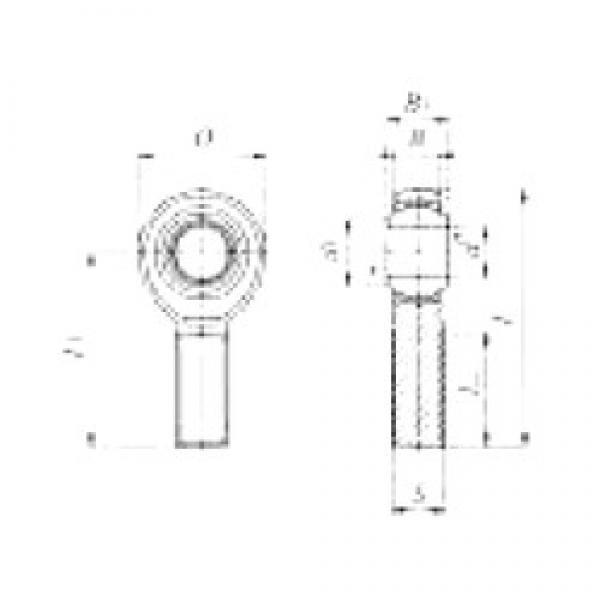 4,826 / mm x 15,88 / mm x 6,35 / mm  4,826 / mm x 15,88 / mm x 6,35 / mm  IKO POSB 3 plain bearings #2 image