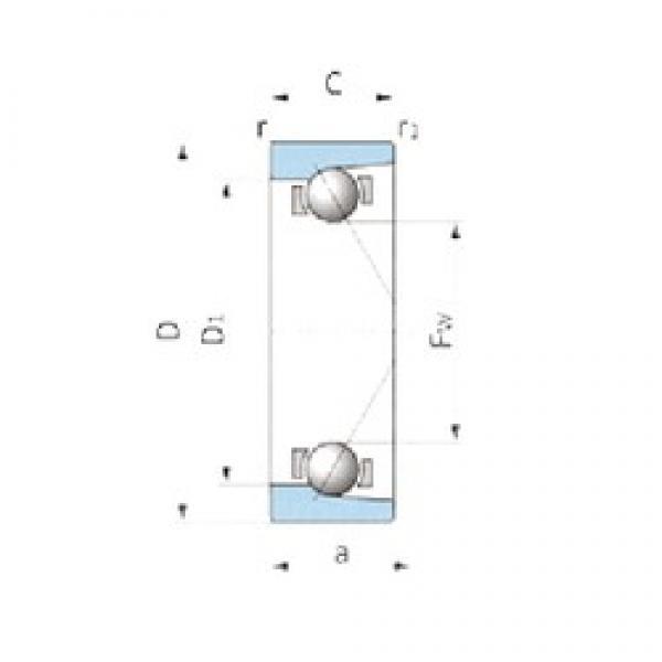 IJK ASB2052 angular contact ball bearings #2 image