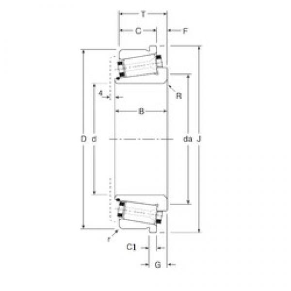 80 mm x 140 mm x 38,5 mm  80 mm x 140 mm x 38,5 mm  Gamet 140080/140140C tapered roller bearings #2 image