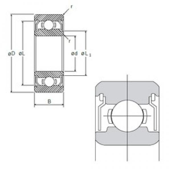 5 mm x 11 mm x 5 mm  5 mm x 11 mm x 5 mm  NMB L-1150ZZ deep groove ball bearings #2 image