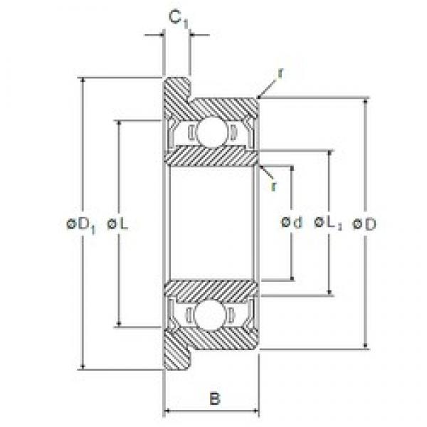 7,938 mm x 12,7 mm x 3,967 mm  7,938 mm x 12,7 mm x 3,967 mm  NMB RIF-8516ZZ deep groove ball bearings #2 image