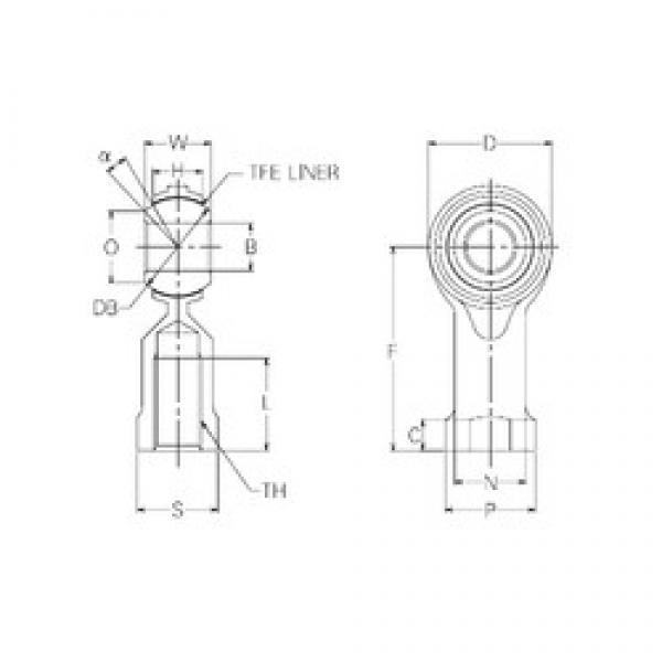 8 mm x 22 mm x 8 mm  8 mm x 22 mm x 8 mm  NMB RBT8 plain bearings #2 image