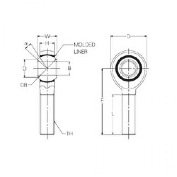 14 mm x 34 mm x 14 mm  14 mm x 34 mm x 14 mm  NMB RBM14E plain bearings #2 image