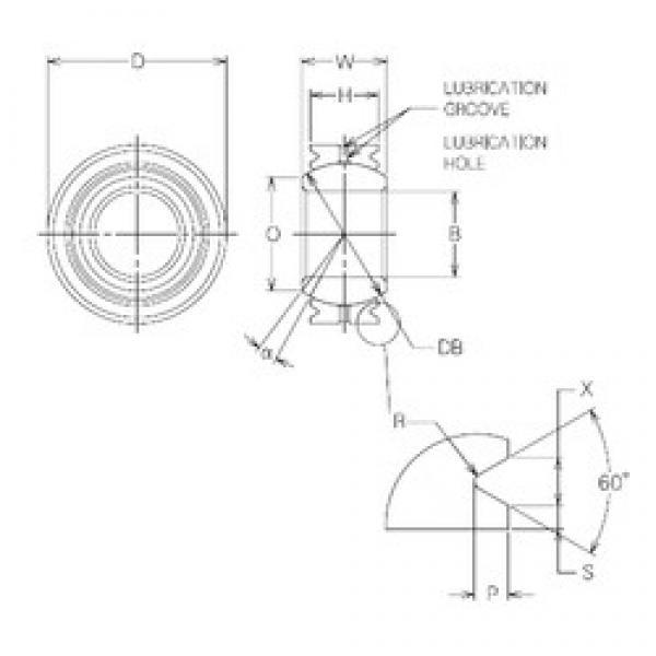 20 mm x 36 mm x 20 mm  20 mm x 36 mm x 20 mm  NMB MBG20VCR plain bearings #2 image